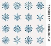vector set of sixteen different ... | Shutterstock .eps vector #211585012