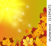 red and yellow autumn vector... | Shutterstock .eps vector #211591672
