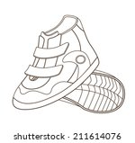 sport shoes isolated on white ... | Shutterstock .eps vector #211614076