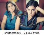 teenager problems   defiant... | Shutterstock . vector #211615906