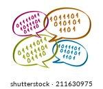social network concept | Shutterstock .eps vector #211630975