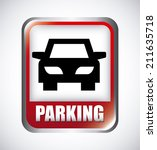 parking signal over  gray... | Shutterstock .eps vector #211635718