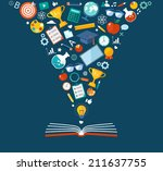 back to school flat... | Shutterstock .eps vector #211637755