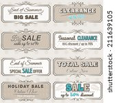 set of special sale offer... | Shutterstock .eps vector #211639105