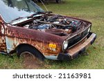 rusted out old car | Shutterstock . vector #21163981
