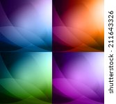 colorful abstract background set | Shutterstock .eps vector #211643326
