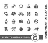 health and medical icons set. | Shutterstock .eps vector #211654186