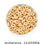 Healthy Cereal Rings In White...