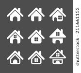 house icon set  each icon is a... | Shutterstock .eps vector #211661152