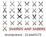 Crossed Swords And Sabers...