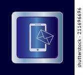 round button. vector icon flat... | Shutterstock .eps vector #211696696