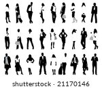 people silhouettes | Shutterstock .eps vector #21170146