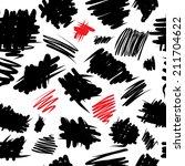 curvy grunge seamless pattern | Shutterstock .eps vector #211704622