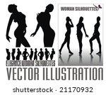 elegant woman illustration   Shutterstock .eps vector #21170932