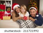 portrait of loving family in... | Shutterstock . vector #211721992