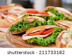 Various Sandwiches On A Shop...