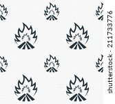 fire flame sign icon. heat... | Shutterstock . vector #211733776