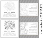 wedding invitation cards with... | Shutterstock .eps vector #211755172