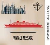 vintage cruise | Shutterstock .eps vector #21175702