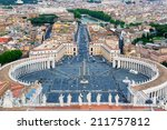 piazza san pietro or st peter... | Shutterstock . vector #211757812