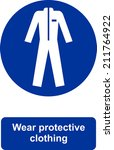 wear protective clothing | Shutterstock .eps vector #211764922