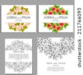 wedding invitation cards with... | Shutterstock .eps vector #211766095