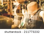 female mannequins inside a... | Shutterstock . vector #211773232