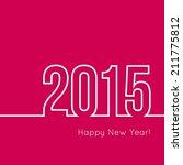 creative happy new year 2015... | Shutterstock .eps vector #211775812