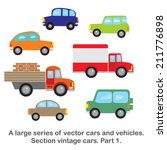 a large series of vector cars... | Shutterstock .eps vector #211776898
