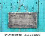Blank Rustic Wood Sign Hanging...