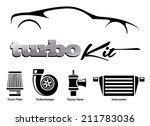 vehicle modification turbo kit | Shutterstock .eps vector #211783036