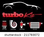 Stock vector vehicle modification turbo kit 211783072