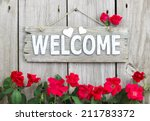 Welcome Sign With Hearts...