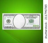 100 dollars bill | Shutterstock .eps vector #211790785