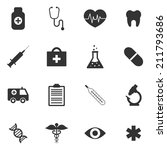 medical icons | Shutterstock .eps vector #211793686