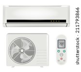 air conditioner system | Shutterstock .eps vector #211793866