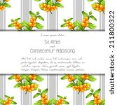 wedding invitation cards with... | Shutterstock . vector #211800322