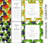 wedding invitation cards with... | Shutterstock . vector #211801756