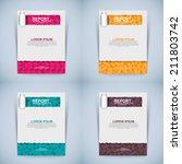 abstract vector modern flyer | Shutterstock .eps vector #211803742