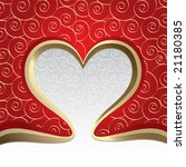 the valentine's day. vector | Shutterstock .eps vector #21180385