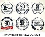 anniversary laurel wreath... | Shutterstock .eps vector #211805335