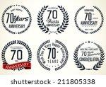 anniversary laurel wreath... | Shutterstock .eps vector #211805338