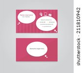 vector business card for... | Shutterstock .eps vector #211810942