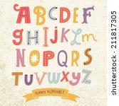bright alphabet set in vector....