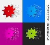 drawing medical formulas ...   Shutterstock . vector #211832122