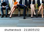 photo of candidates waiting for ... | Shutterstock . vector #211835152