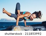athletic strong woman... | Shutterstock . vector #211853992