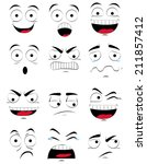 a set of different facial... | Shutterstock .eps vector #211857412