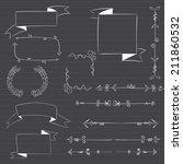 vector chalkboard ribbons | Shutterstock .eps vector #211860532