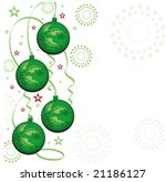 baubles with ribbons | Shutterstock .eps vector #21186127